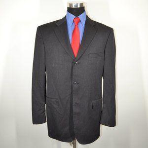 Pronto Uomo 42L Sport Coat Blazer Suit Jacket Dark